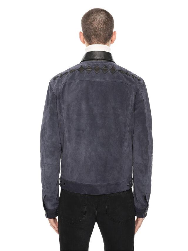 Diesel - LYRICH, Dark Blue - Leather jackets - Image 2