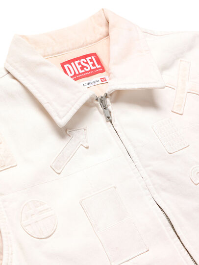 Diesel - GR02-J303, White - Denim Jackets - Image 3
