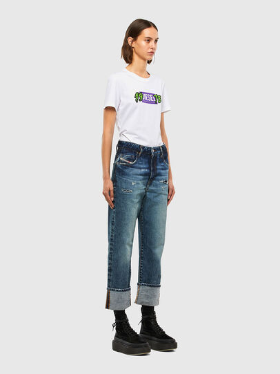 Diesel - T-SILY-K4, White - T-Shirts - Image 4