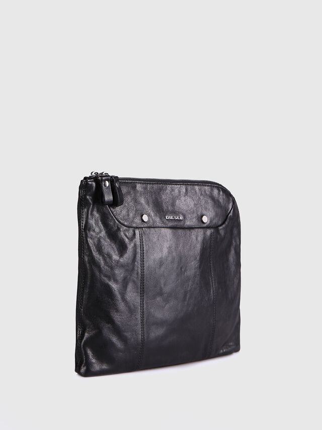 Diesel - L-L4CLUTCH, Black Leather - Clutches - Image 3