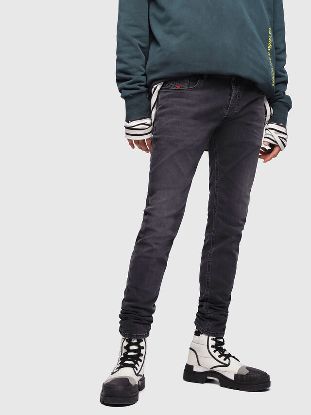 Diesel - Sleenker 069EQ, Black/Dark grey - Jeans - Image 1