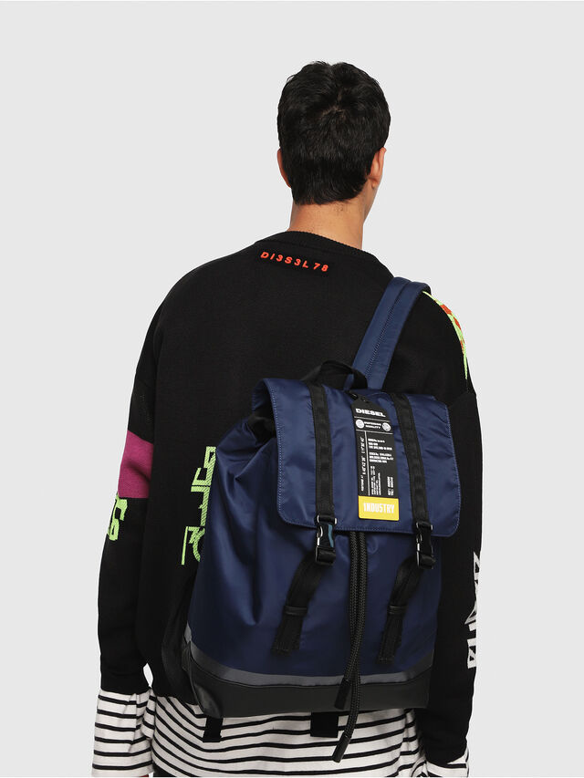 Diesel - VOLPAGO BACK, Blue - Backpacks - Image 6