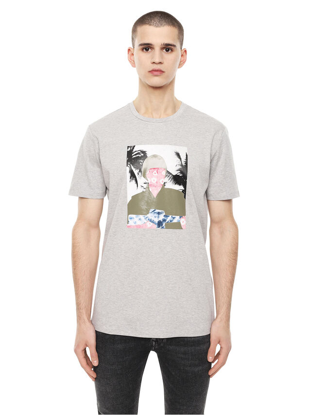 Diesel - TY-SOLDIER, Grey - T-Shirts - Image 1