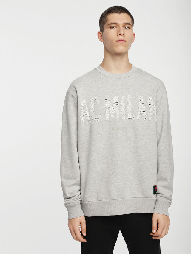 Diesel - DVL-SIFLA-CAPSULE, Light Grey - Sweaters - Image 1