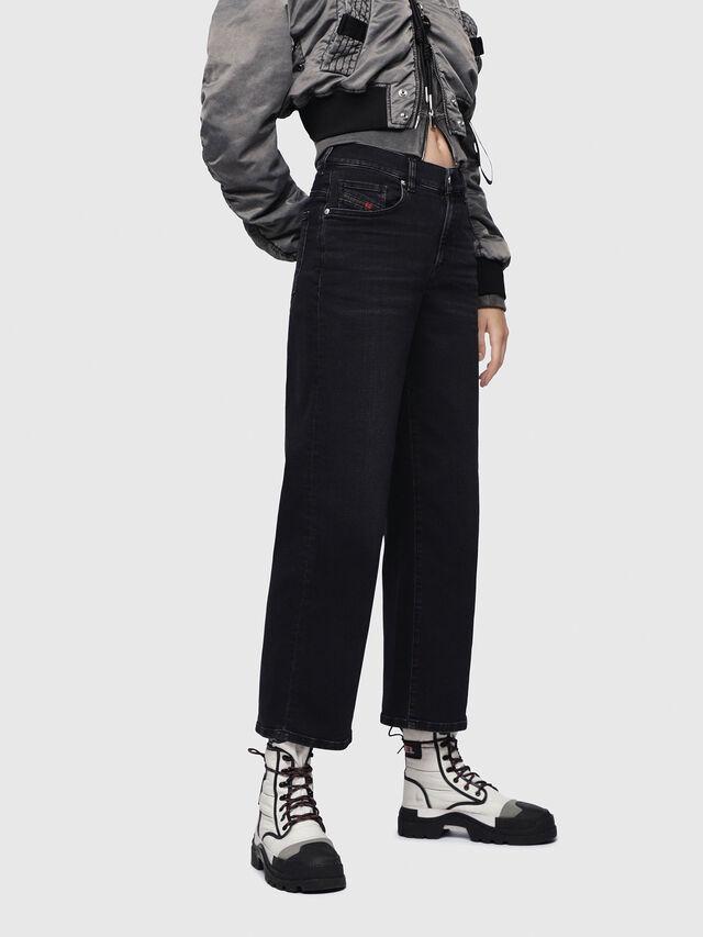 Diesel Widee 084HQ, Black/Dark grey - Jeans - Image 1