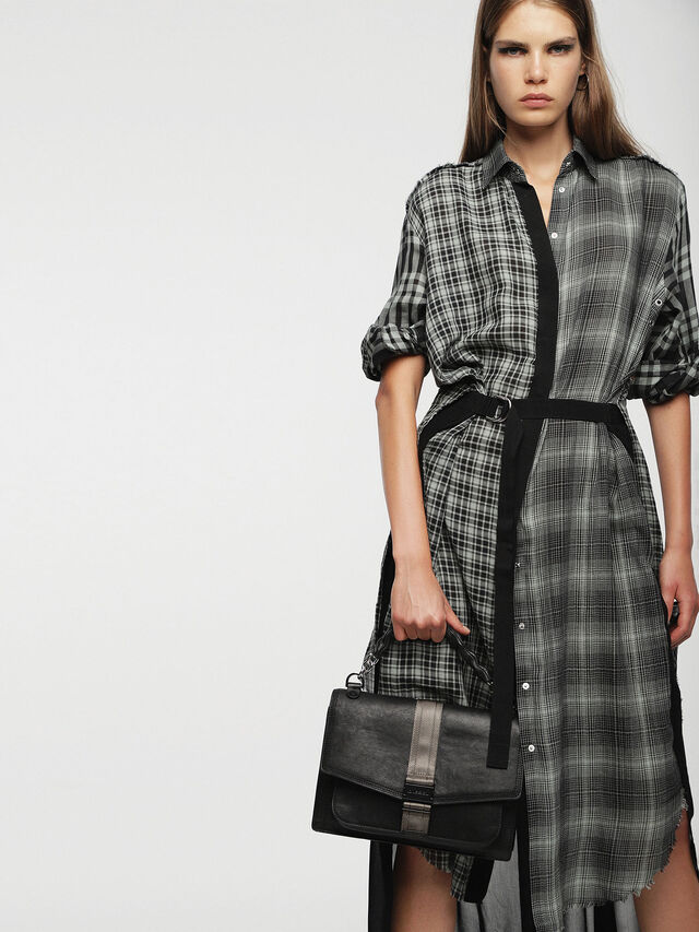 Diesel - MISS-MATCH CROSSBODY, Black Leather - Crossbody Bags - Image 5