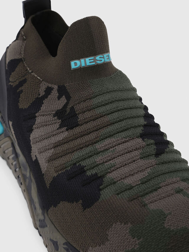 Diesel - S-KB ATHL SOCK, Green Camouflage - Sneakers - Image 4