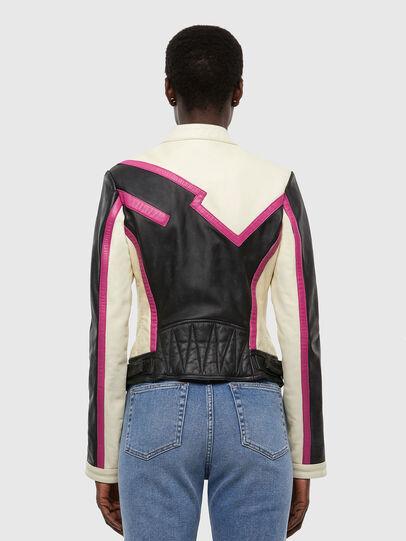 Diesel - L-JOBE, Black/White - Leather jackets - Image 2