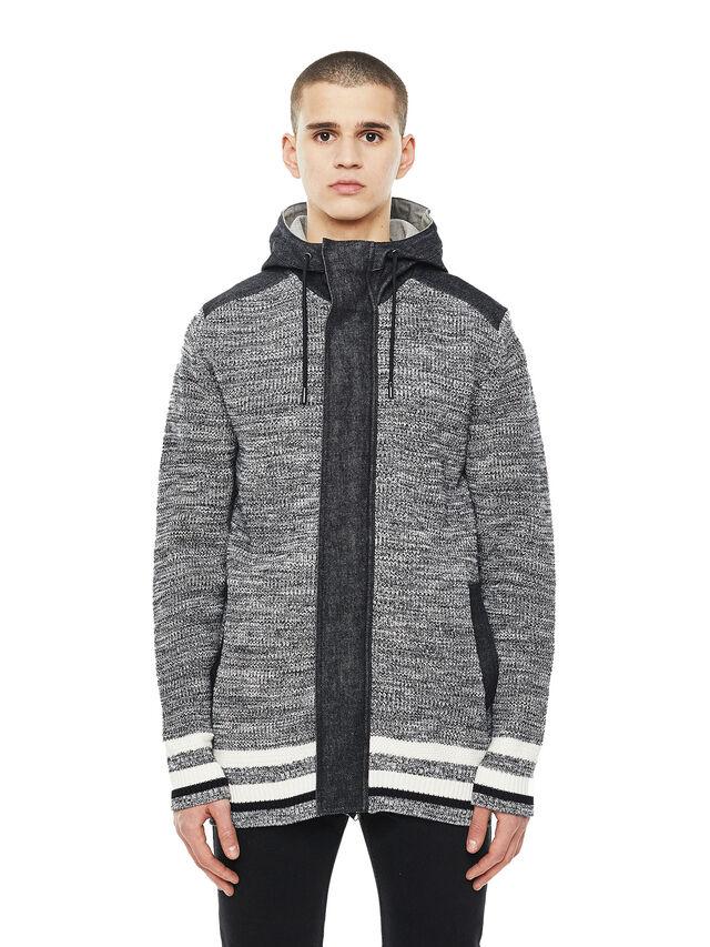 Diesel - KOMO-HOOD, Black/Grey - Knitwear - Image 1
