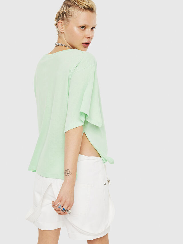 Diesel - T-JACKY-D, Green Fluo - T-Shirts - Image 2
