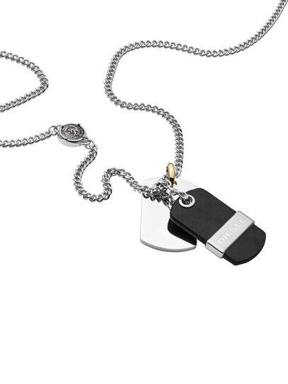 Diesel - NECKLACE DX1084, Black - Necklaces - Image 2