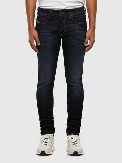 Diesel - Sleenker 009EY, Dark Blue - Jeans - Image 1