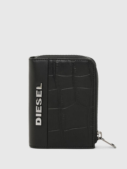 Diesel - L-12 ZIP, Black - Zip-Round Wallets - Image 1