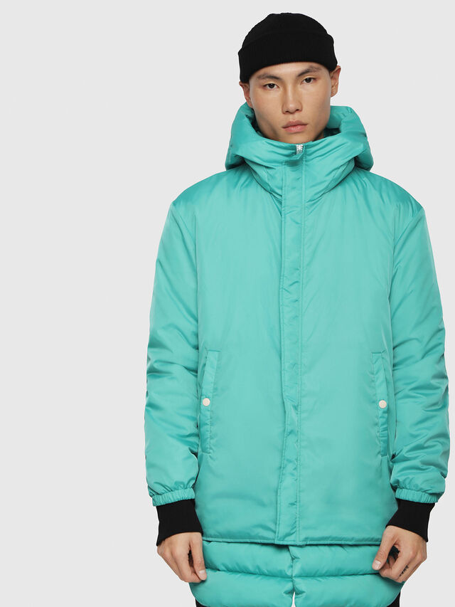 Diesel - W-SUN-REV-A, Water Green - Winter Jackets - Image 1