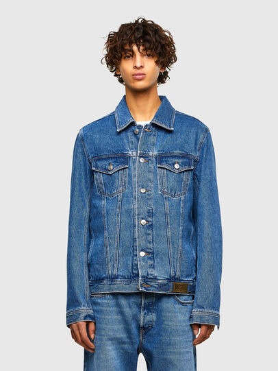 Diesel - NHILL-C1, Medium blue - Denim Jackets - Image 1