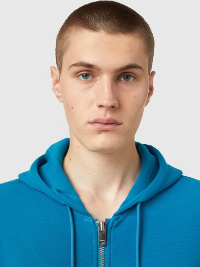 Diesel - S-KRIB-HOOD-ZIP, Blue - Sweaters - Image 3