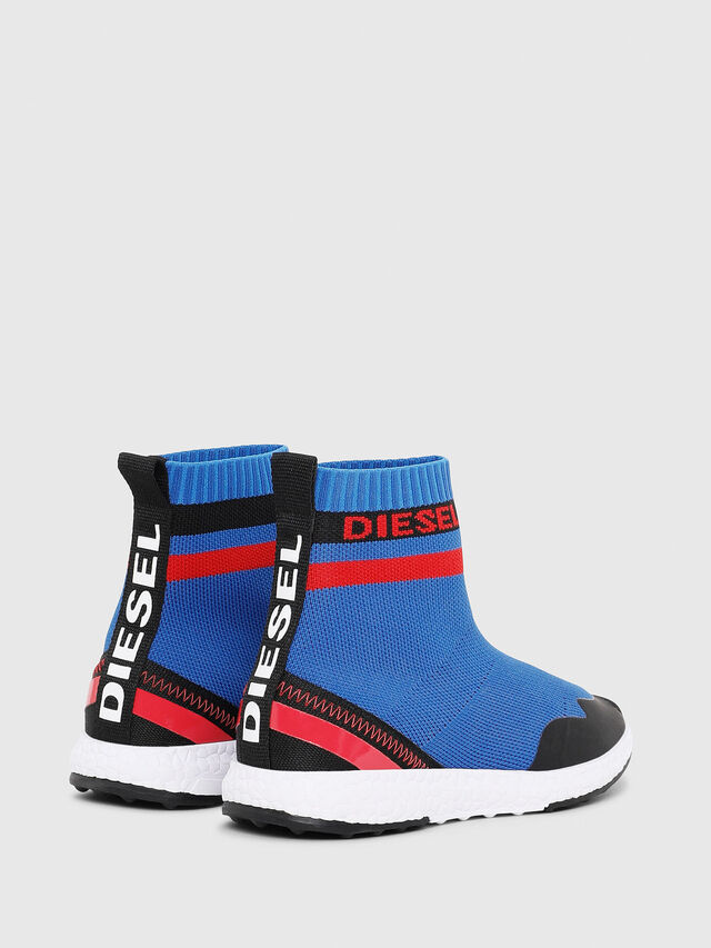 Diesel - SLIP ON 03 S-K SOCK, Blue - Footwear - Image 3