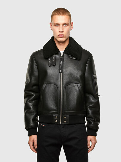 Diesel - L-ARNOLD, Black - Leather jackets - Image 1