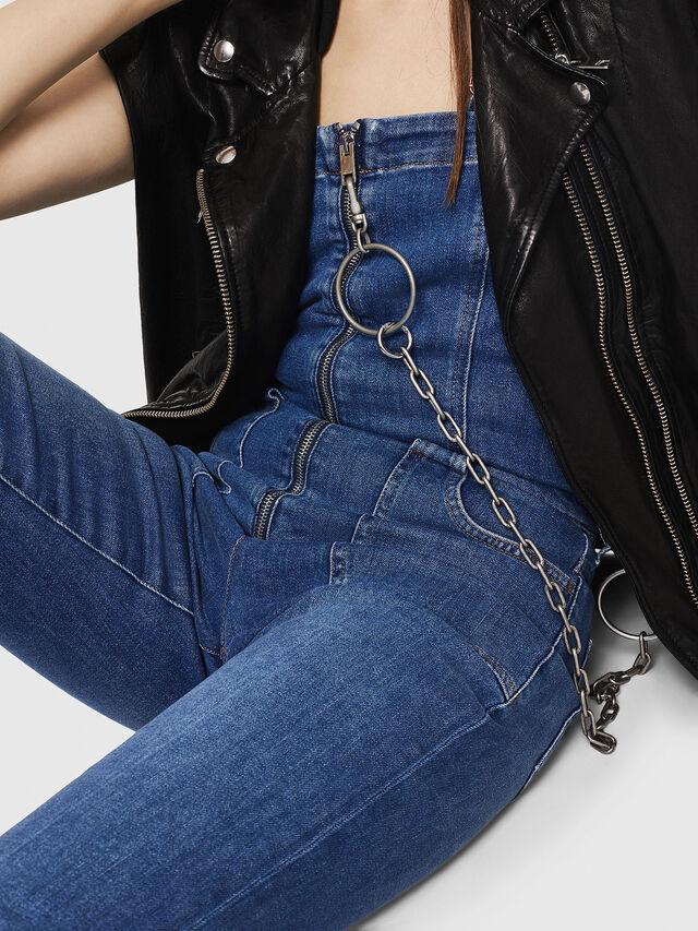 Diesel - DE-THINK, Blue Jeans - Jumpsuits - Image 5