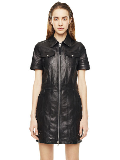 Diesel - DAFFIE,  - Leather dresses - Image 1