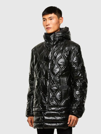 Diesel - W-CRAWFORD-SHINY, Black - Winter Jackets - Image 7