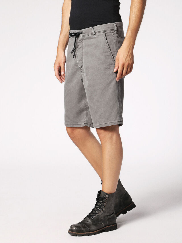 Diesel - CHINO-SHORT JOGGJEANS, Grey - Shorts - Image 4