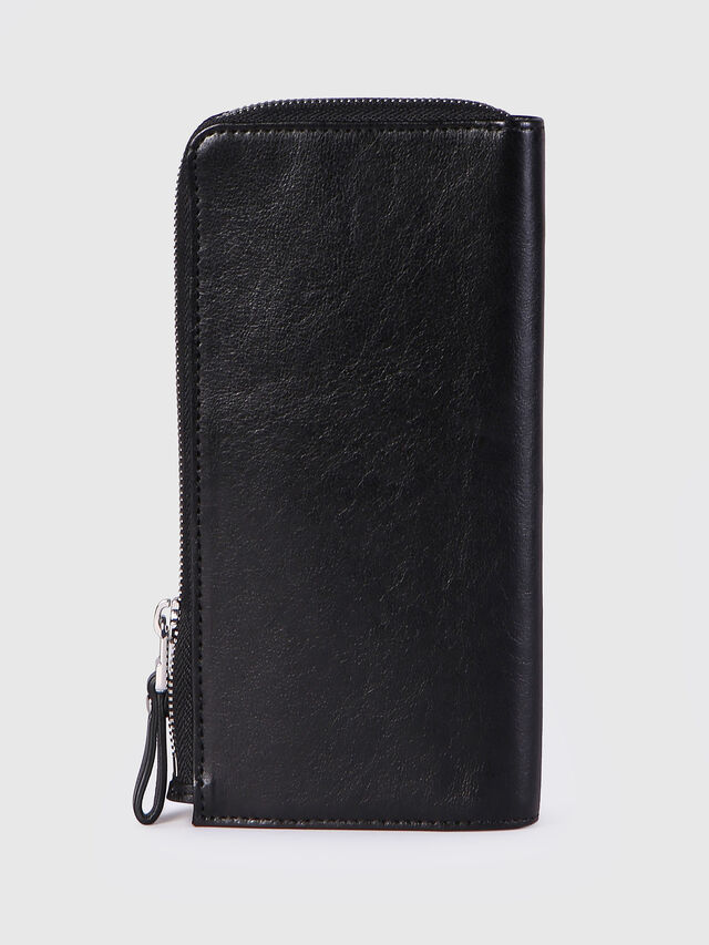 Diesel - L-24ZIP, Black - Zip-Round Wallets - Image 2