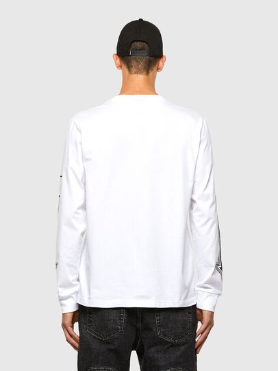 Diesel - T-JUST-LS-A8, White - T-Shirts - Image 2