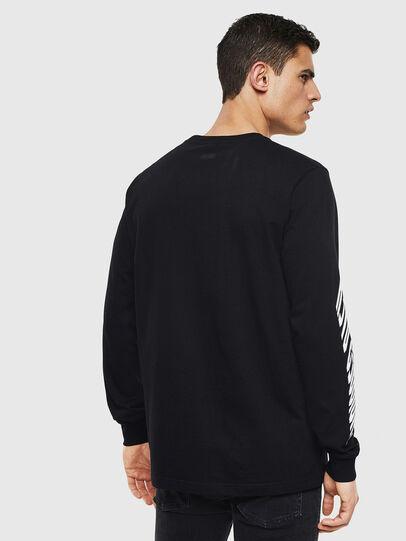 Diesel - T-JUST-LS-T13, Black - T-Shirts - Image 2