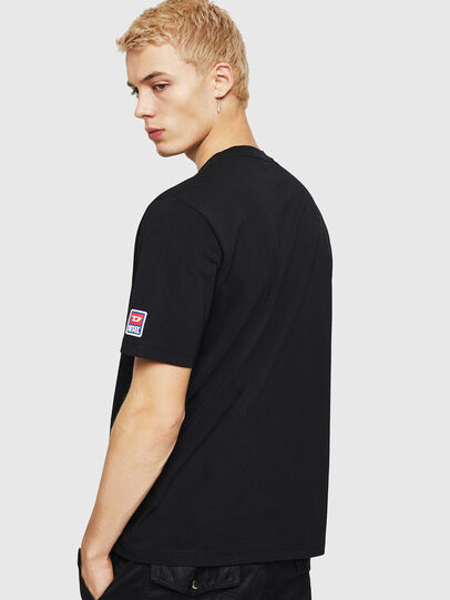 Diesel - T-JUST-DIVISION-D, Black - T-Shirts - Image 2