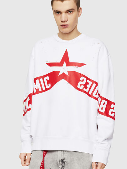 Diesel - S-BAY-HOLES, White/Red - Sweaters - Image 1