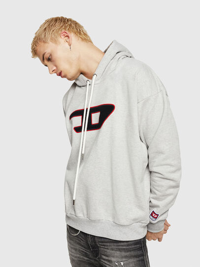 Diesel - S-DIVISION-D, Grey - Sweaters - Image 1