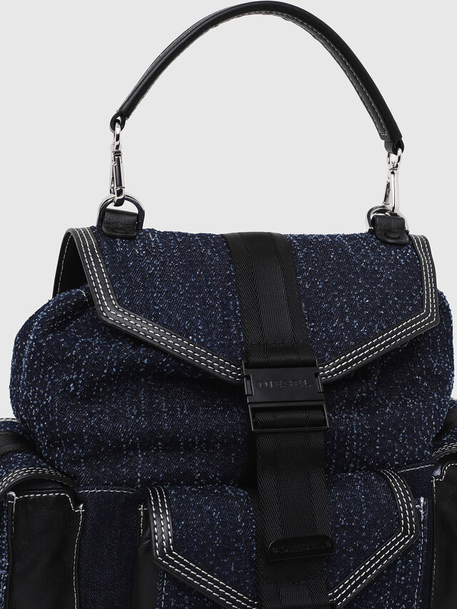 Diesel - MISS-MATCH BACKPACK, Blue Jeans - Backpacks - Image 4