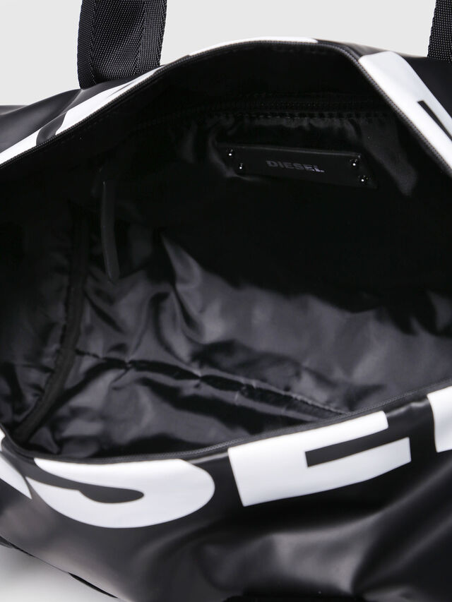 Diesel - F-BOLD DUFFLE FL, Bright Black - Travel Bags - Image 4