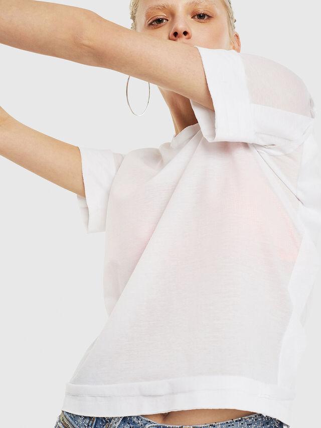 Diesel - T-ROCK-A, White - T-Shirts - Image 4