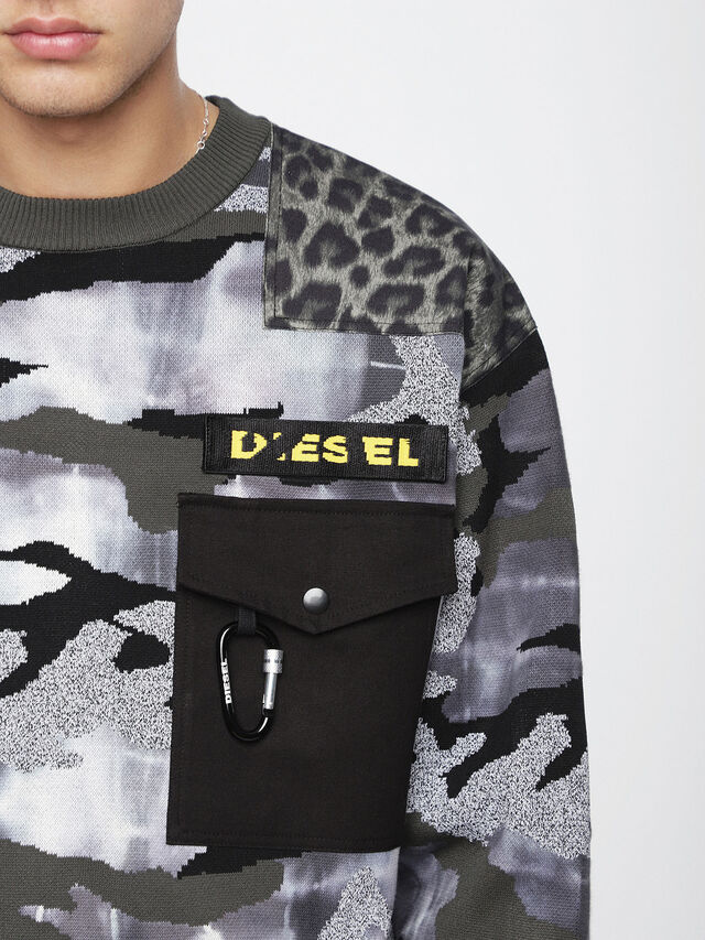 Diesel - K-CAMOU-E, Military Green - Knitwear - Image 3