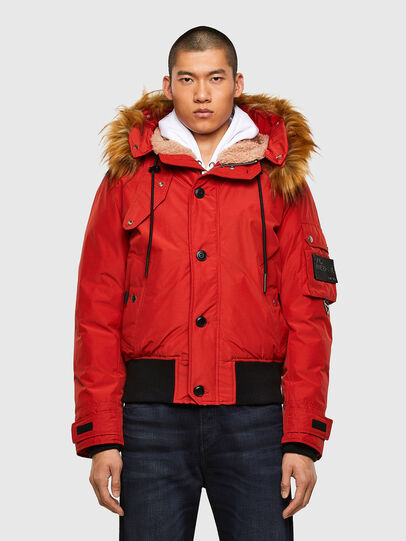 Diesel - W-JAME, Red - Winter Jackets - Image 1