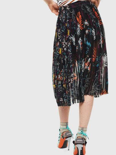 Diesel - O-PLIZ, Black - Skirts - Image 2