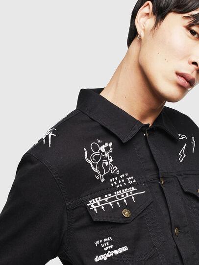 Diesel - CL-NHILL-T, Black - Denim Jackets - Image 4