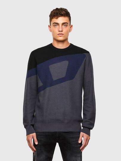 Diesel - K-ZACK, Grey - Knitwear - Image 1