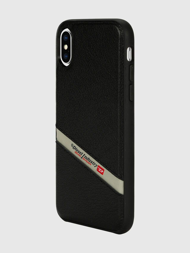 Diesel - DIESEL LEATHER CO-MOLD CASE FOR IPHONE XS & IPHONE X, Black - Cases - Image 5