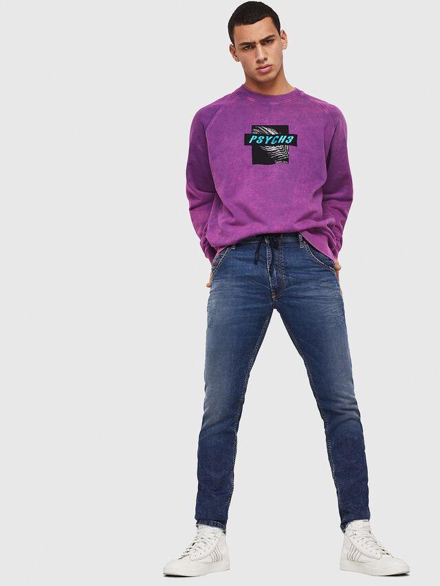 Diesel - Krooley JoggJeans 069FG, Dark Blue - Jeans - Image 5