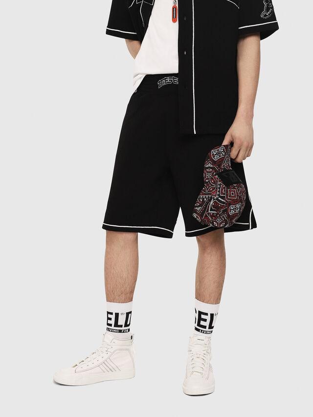 Diesel - P-KOU-TAPE, Black - Shorts - Image 1