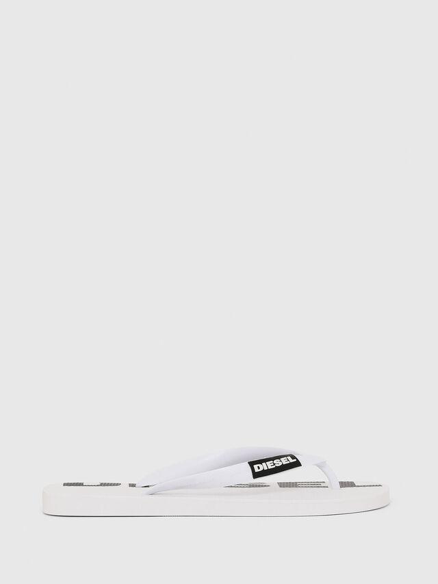 Diesel - SA-BRIIAN W, White/Black - Slippers - Image 1