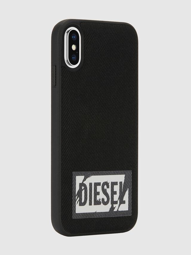 Diesel - BLACK DENIM IPHONE X CASE, Black - Cases - Image 6