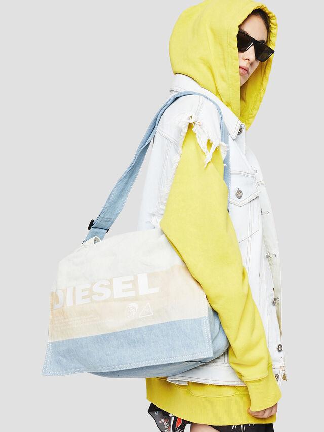 Diesel - D-THISBAG MESSENGER, Blue/White - Crossbody Bags - Image 5
