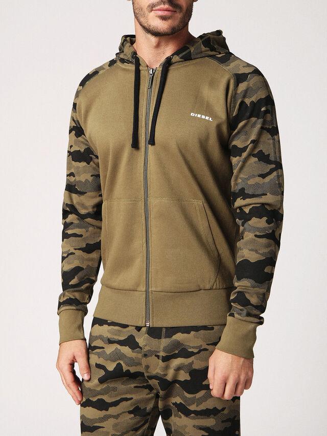 Diesel - UMLT-BRIANZ, Green Camouflage - Sweaters - Image 1