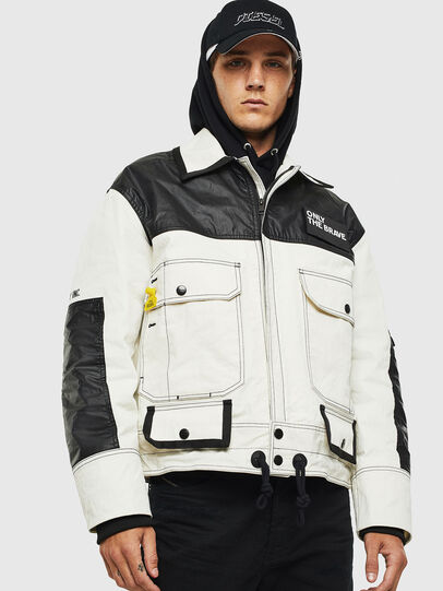 Diesel - J-KENDY, White/Black - Jackets - Image 1