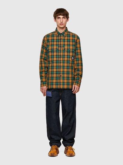 Diesel - S-JESS-CHECK, Orange/Green - Shirts - Image 4