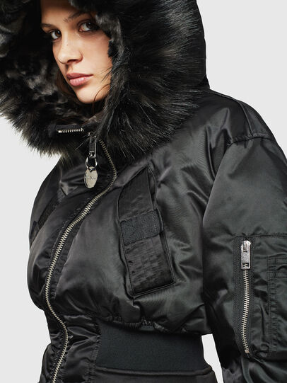 Diesel - W-ISOKE-A, Black - Winter Jackets - Image 3